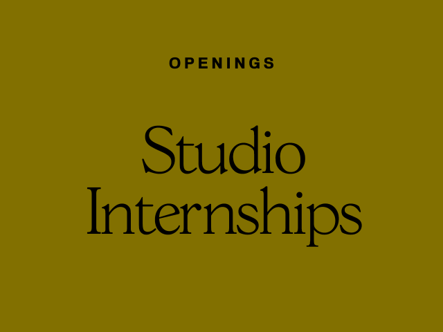 Studio Employment Opportunities 2018