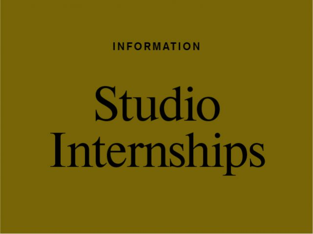 Studio Employment Opportunities 2019